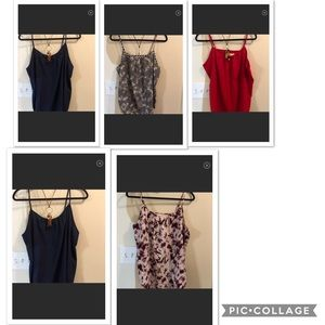 Lot of 5 large (12-14) summer tops.